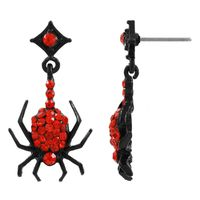 Red spider earrings